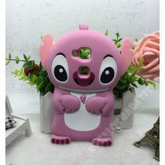 Carcasa 3D divertida Stitch rosa en silicona para tu móvil Huawei G8