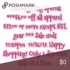 Check out my closet! Sale is per item, so make sure you bundle first or contact me first! Other