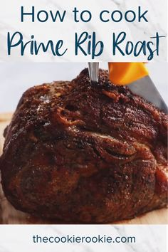 Prime Rib Roast is a fantastic main dish for any special meal or Sunday dinner. There are just a few simple seasonings, basic prep before roasting, and then the oven does the rest of the work. Rib Recipes, Roast Recipes, Cooking Recipes, Rib Roast Recipe, Prime Rib Recipe Easy, Beef Rib Roast, Cooking Prime Rib Roast, Prime Rib Seasoning, Prime Rib Dinner