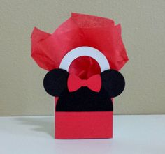 10 Minnie Mouse Red Favor Boxes Centerpieces by CutePartySupplies