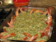 Baked Shrimp Scampi, Ina Garten recipe ~ These were really good and easy to prepare. A keeper as all Ina Garten recipes end up being.
