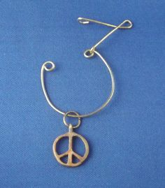 Wire Charm Pendant & Bronze Peace Charm (by DArel)