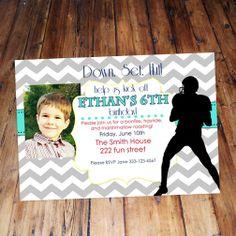 Football Chevron birthday invitations custom by DazzlingDarlings, $15.00