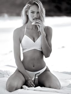 New: Candice Swanepoel for VS Swim, March 2016.