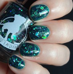 Egeria 15 ml teal jelly with teal magenta and silver
