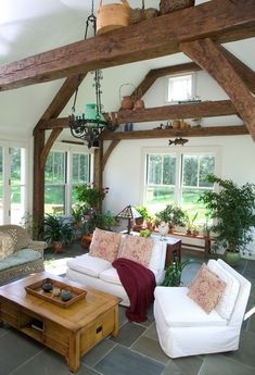 exposed beams ceiling photos | Exposed beam living rooms.