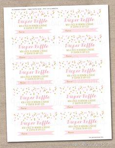 Free Diaper Raffle Tickets Printable