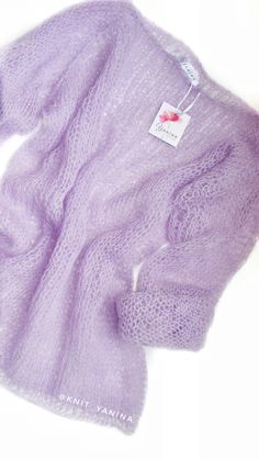 Pink mohair knit swe