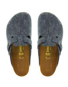 Birkenstock Boston Grey Slip on Clog Shoes