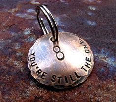 Custom Anniversary Keychain - Our Eighth - in Bronze on Etsy, $13.00