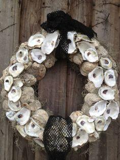Oyster Shell wreath by TRAVELERSRESTFARM on Etsy