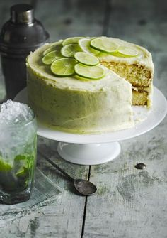 Mojito cake Soak light and airy sponges in a mojito-infused sugar syrup, then cover with a zingy lime buttercream. Our mojito cake is an absolute stunner! Recipe created by olive reader Joanne Middleton Food Cakes, Cupcake Cakes, Cupcakes, Cake Cookies, Tortas Deli, Köstliche Desserts, Dessert Recipes, Italian Desserts, Pudding Recipes