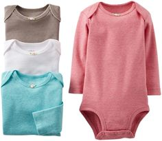 cdf540e5a6 Amazon.com  Carter s Baby Girls  4 Pack Bodysuits (Baby) - Assorted