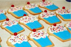 Happy Birthday Cupcake Cookies - Try something cuter than a cake.