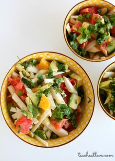 teach. eat. love.: Jicama, Citrus, and Avocado Salad