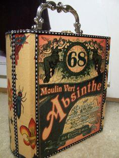 Gasp! Want! ABSINTHE purse STEAM PUNK DIY BOX TATTOO SAILOR by nothinpursenal