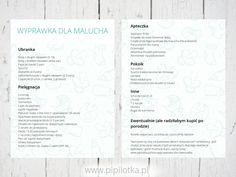 Lista wyprawkowa dla noworodka + PDF do druku | Pipilotka