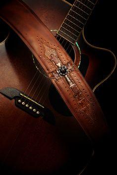 Cognac Harbinger Guitar Strap