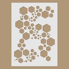 Super hexagon stencil by Stencil Direct