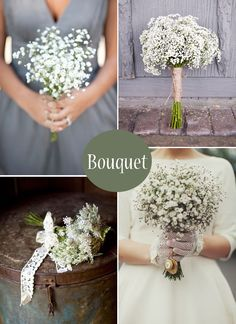 Gypsophila, Baby's Breath.....I know this doesn't hold with what we've discussed, but I looooove baby's breath...We could just have it everywhere and I'd be happy:) js, if it isn't super expensive, little arrangements of this...or maybe in the church?