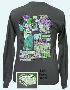 9fe0f1e15 John 3:16 - Girlie Girl Originals Simply Southern Shirts, Southern Outfits,  Christian