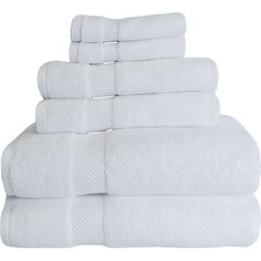 Stack these cozy cotton towels on the guest vanity to help out-of-towners feel at home, or roll them up and tuck them into a basket for a spa-worthy look.