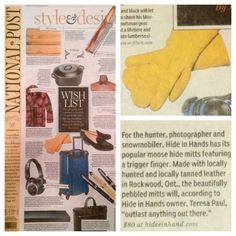We were in the National Post! Trigger Finger, Daily Fashion, Canada, Leather, Handmade, Hand Made, Carpal Tunnel Syndrome