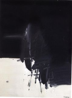 just another masterpiece: worldartcollection: André Marfaing Black And White Painting, Black And White Abstract, Abstract Expressionism, Abstract Art, Abstract Paintings, Landscape Paintings, Bauhaus, Modern Art, Contemporary Art
