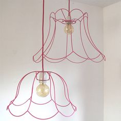 HOME DZINE Craft Ideas | Fabric wrapped wire lampshade