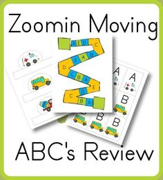 A-E Review Game–Zoomin Moving ABCs