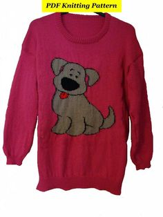 Ravelry: Designs by Blonde Moments Jumper Knitting Pattern, Intarsia Knitting, Cute Puppies, Dogs And Puppies, Dog Jumpers, Toddler Christmas, Dogs And Kids, Christmas Jumpers, Cute Unicorn