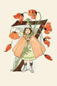 Number Seven - by Ottilia Adelborg Illustrations, Illustration Art, Vintage Book Art, I Believe In Angels, Alphabet Print, Painted Letters, Nature Journal, Illuminated Letters, Graffiti