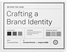 Featured Skillshare Class of the Week: Crafting a Brand Identity >>>  This class will guide you to create a comprehensive identity system that supports and enhances your logo to take your brand to the next level.