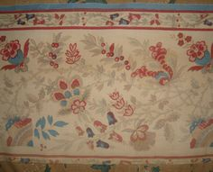 Beautiful 19th century French Fine Linen Cotton Indienne, Patchwork, Projects