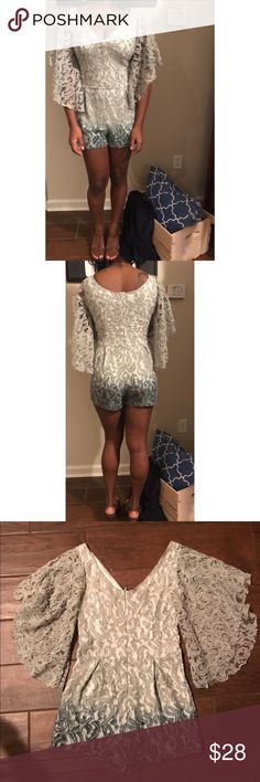 🌹New Listing🌹Lace Romper This Lace romper will be great for spring/summer! This romper is paired with a brown sandal that is also in our closet. This is brand new with tags. -BxB🌹 Other
