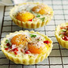 Savoury breakfast tarts