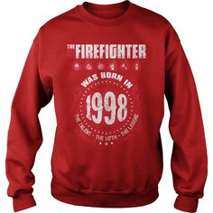 1998 The best #Firefighter was born in 1998 , Order HERE ==> https://www.sunfrog.com/Birth-Years/120344257-594807745.html?8273, Please tag & share with your friends who would love it, #firefighter crafts, beginner workout, core workout #feuerwehrmann , #DIY, #crafts   #firefighter #posters #kids #parenting #men #outdoors #photography #products #quotes