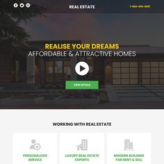 best real estate responsive video funnel design Real Estate Landing Pages, Best Landing Page Design, Real Estate Video, Call To Action, Lead Generation, Luxury Real Estate
