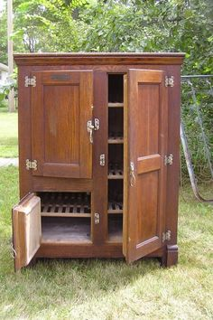 Three Door Ice Box - had one similar built into the wall between the kitchen and back porch in the house where i grew up
