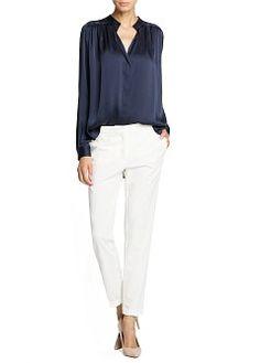 MANGO - CLOTHING - Tops - Satin finish flowy blouse