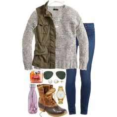 A fashion look from September 2016 featuring J.Crew sweaters, Lucky Brand vests and Paige Denim jeans. Browse and shop related looks. Fall Winter Outfits, Autumn Winter Fashion, Fall Fashion, Preppy Outfits, Cute Outfits, Fashion Outfits, Duck Boots Outfit, Boating Outfit, Everyday Outfits