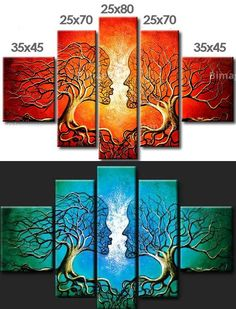 como hacer cuadros tripticos con relieve - Buscar con Google Triptych Art, African Paintings, Tree Canvas, Mandala Drawing, Illusion Art, Abstract Flowers, Christian Art, Diy Wall Art, Stone Art