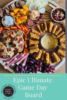 Crab Dip Recipes, Cheese Dip Recipes, Dinner Recipes, Charcuterie Recipes, Charcuterie Board, Bagel Dip, Layered Bean Dip, Mozzarella Cheese Sticks, Homemade Pretzels