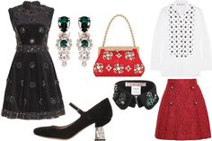 Holiday Party Inspiration: Department store windows aren't the only things getting decked out this season. Here are some sparkling jewel-trimmed looks for New Year's Eve.