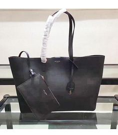 a9cb77d90964 YSL Original Calfskin Leather Shopping Bag