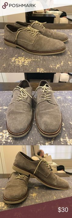 f65be0efe15 Aston Grey Collection Dien Tan Suede Oxford Shoes In excellent preowned  condition! Some wear on