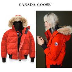CANADA GOOSE ダウンジャケット・コート CANADA GOOSE Savona Bomber ポップなオレンジがキュートな印象 Canada Goose Women, Canada Goose Jackets, Winter Jackets, Women's Fashion, Orange, Lady, Free, Style, Winter Coats