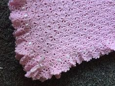 Fantail Baby Blanket Free Ravelry Pattern (rated easy)