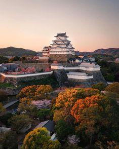 Go To Japan, Visit Japan, Himeji Castle, Japanese Castle, Cherry Blossom Season, Tokyo Travel, Explore Travel, Building Design, Paris Skyline
