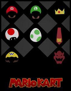 Pôsteres minimalistas de jogos e personagens de videogame.